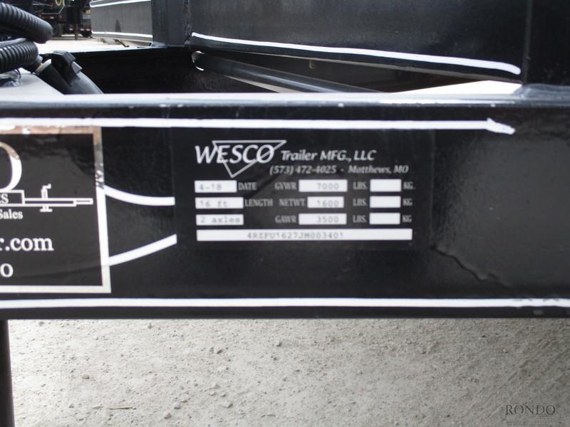 2018 Wesco UTILITY Flatbed Trailer