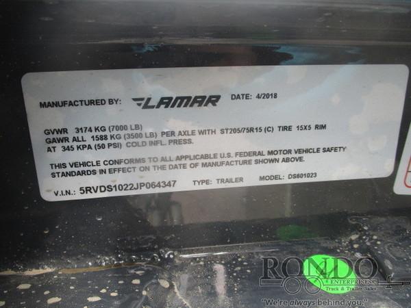 2018 Lamar Dump DS601023.2 Dump Trailer