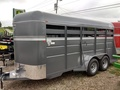2019 Valley 26016 16FT STOCK TRAILER Box Trailer