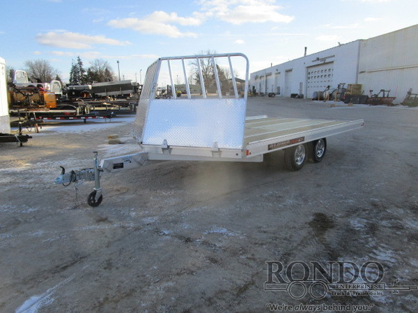 2017 Aluma Snowmobile 8614 Flatbed Trailer