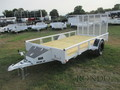 2018 Rice Single Axle Utility RSP7612 Flatbed Trailer