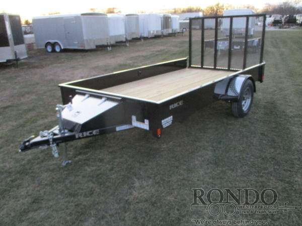 2018 Rice Single Axle Utility SST7612 Flatbed Trailer