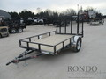 2018 PJ U7 Single Axle Utility U721031DSGK Flatbed Trailer
