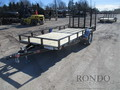 2018 PJ U7 Single Axle Utility U721431DSGKV Flatbed Trailer
