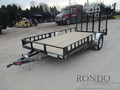 2018 PJ U8 Single Axle Utility U821431DSBKA Flatbed Trailer