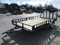 2018 PJ U8 Single Axle Utility U821431DSBKA Flatbed Trailer