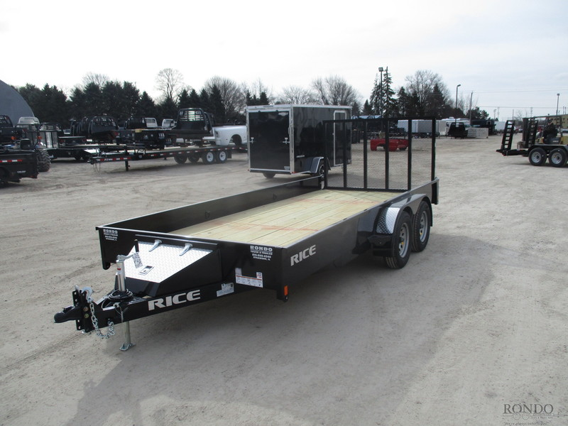 2018 Rice Utility TST8216 Flatbed Trailer