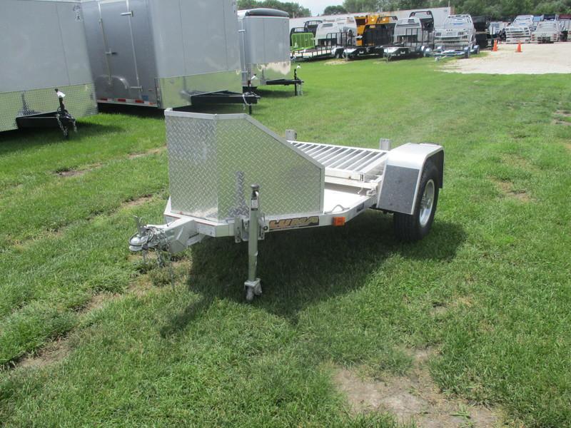 2012 Aluma Aluminum Single Axle Utility MC1F Flatbed Trailer