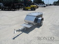 2008 Aluma Aluminum Single Axle Utility MCTXLB Flatbed Trailer
