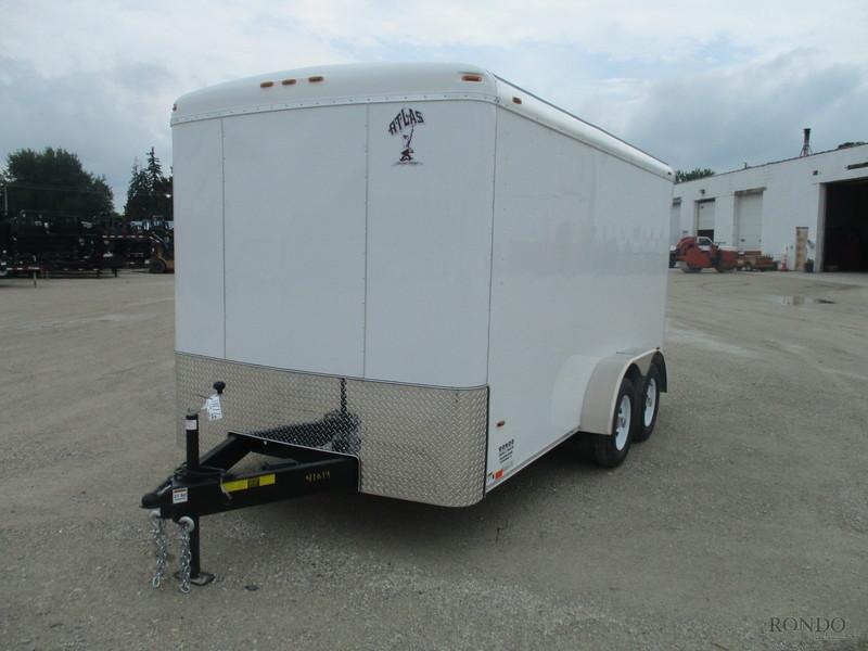 2019 Atlas Enclosed Cargo AU714TA2-R Box Trailer