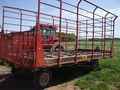 H & S BTR Power Unload Bale Wagons and Trailer