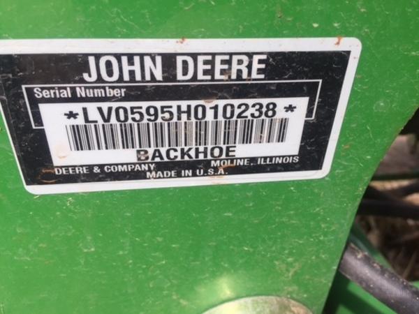 John Deere 595 Backhoe