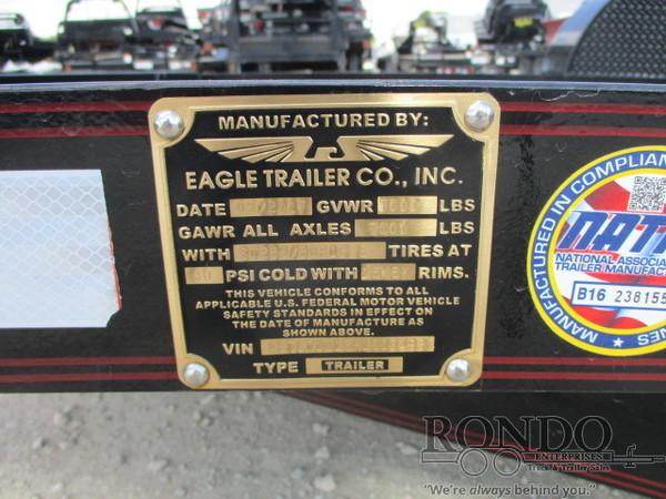 2017 Eagle 7X10LSA70-7000 Flatbed Trailer