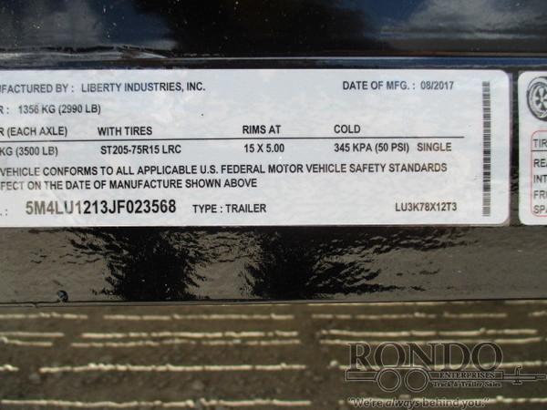 2017 Liberty LU3K78X12T3 Flatbed Trailer