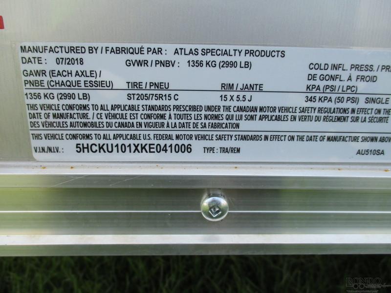 2019 Atlas AU510SA-R Box Trailer