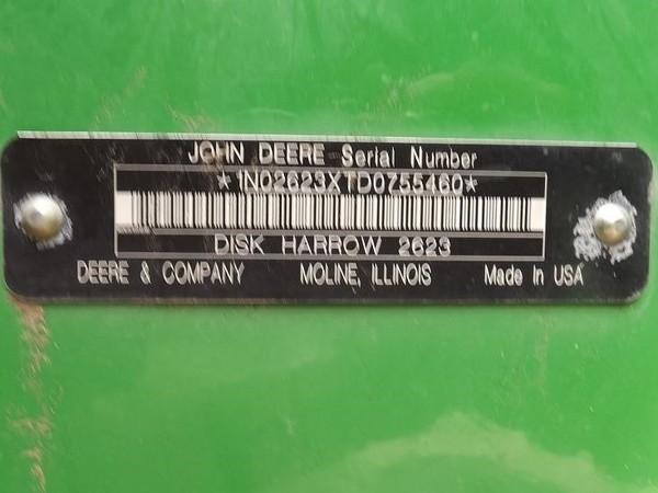 2014 John Deere 2623 Disk