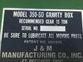 J&M 350SD Gravity Wagon