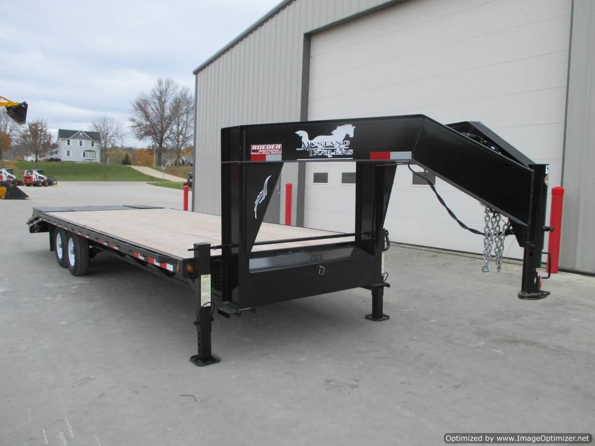 2019 Mustang 81/2 X 25' GN FLATBED TRAILER-7K AXLES Flatbed Trailer