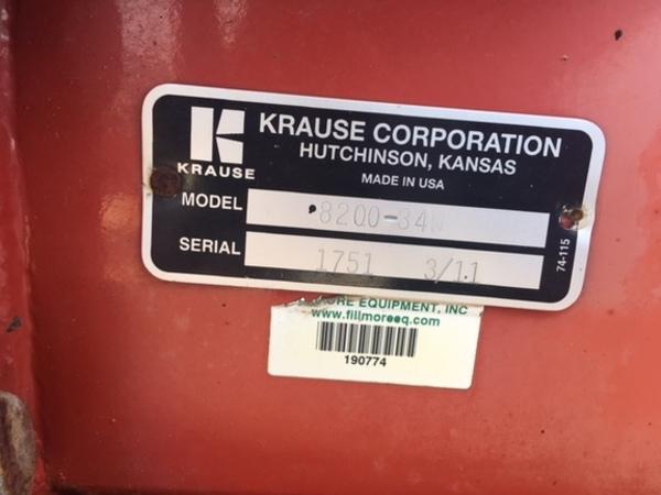 2011 Krause TDH 8200 Disk