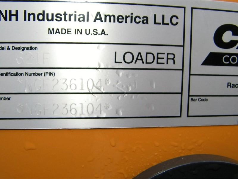 2017 Case 621F Wheel Loader