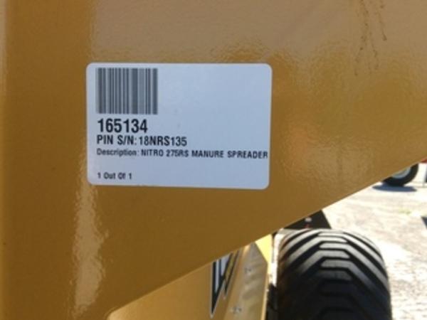 2018 Nitro 275RS Manure Spreader