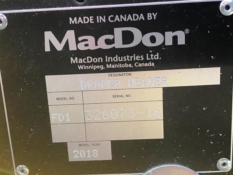 2018 MacDon FD130 Platform