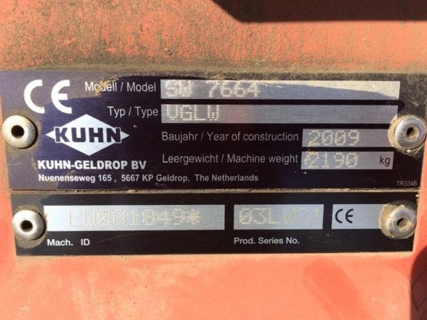 2009 Kuhn SW7664 Miscellaneous