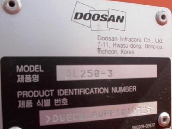 2014 Doosan DL250HL-3 Wheel Loader