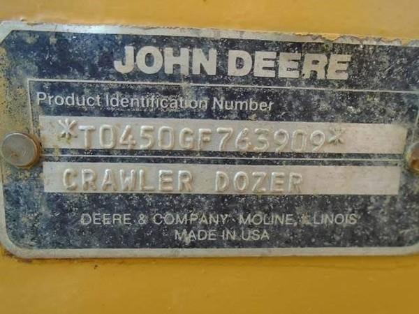 1989 John Deere 450G Crawler