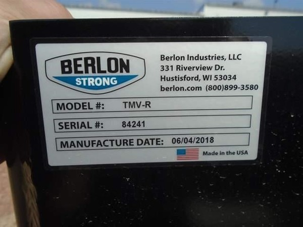2018 Berlon TMV-R Loader and Skid Steer Attachment