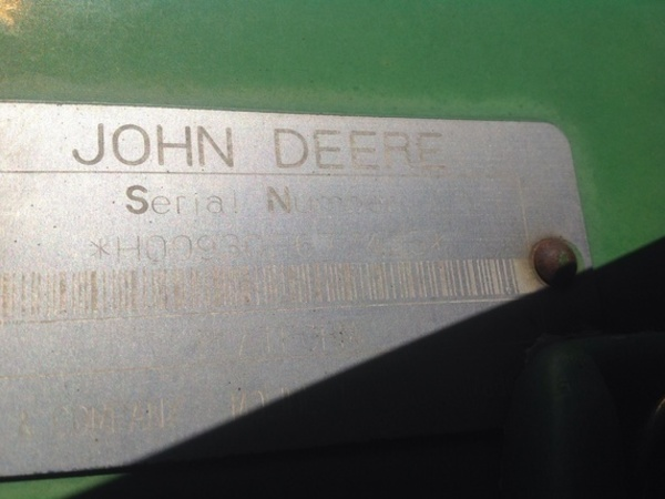 1998 John Deere 930F Platform