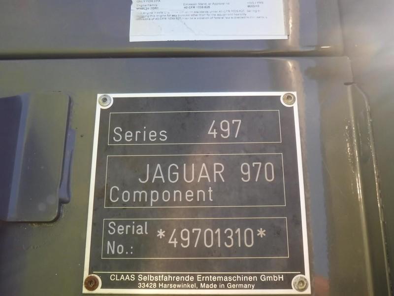 2016 Claas Jaguar 970 Self-Propelled Forage Harvester