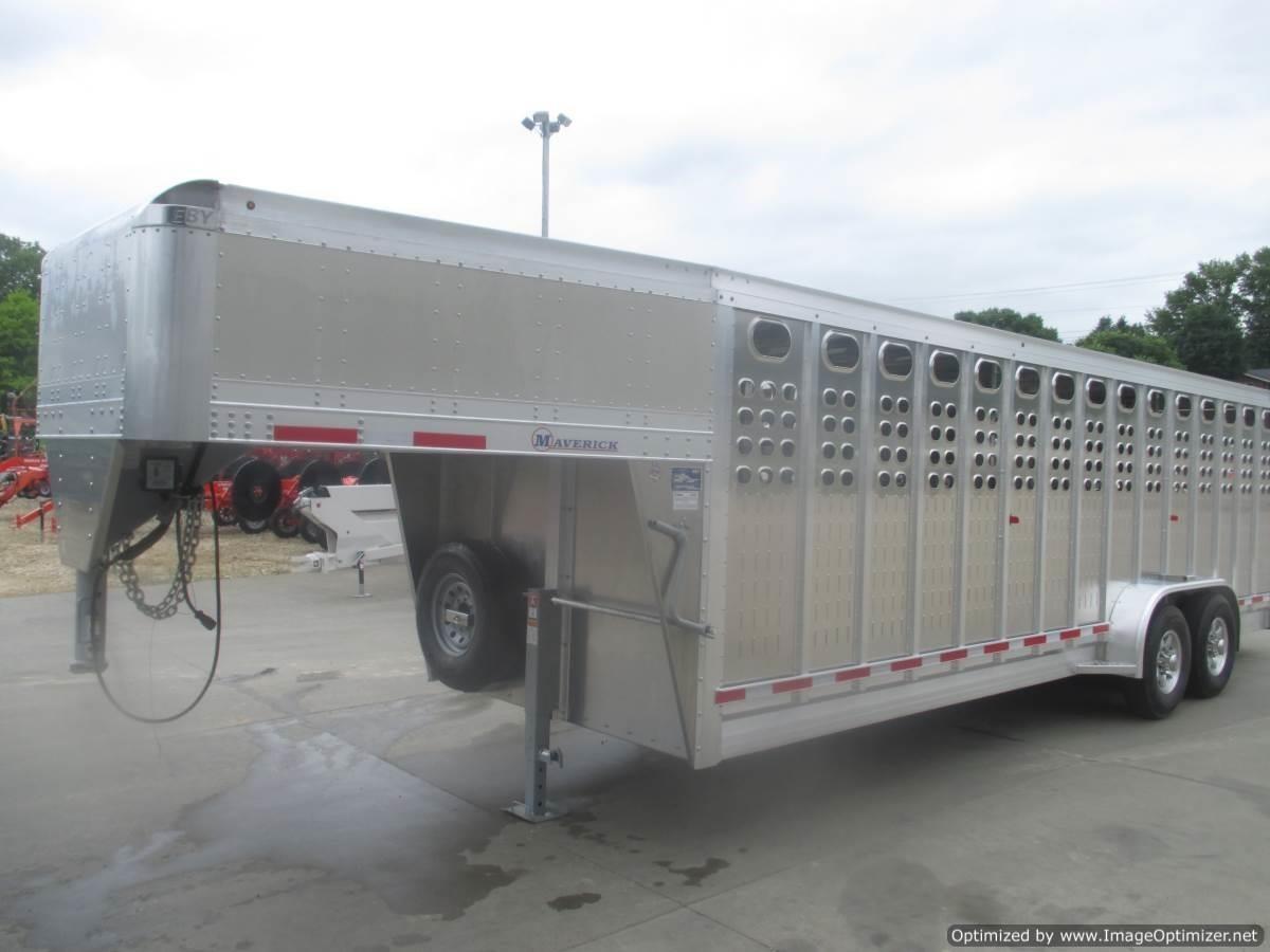 "2019 EBY EBY 7'1"" X 24' MAVERICK PUNCHED SIDE STOCK TRAILER Livestock Trailer"