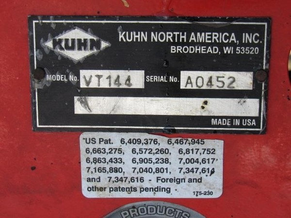 2014 Kuhn Knight VT144 Grinders and Mixer