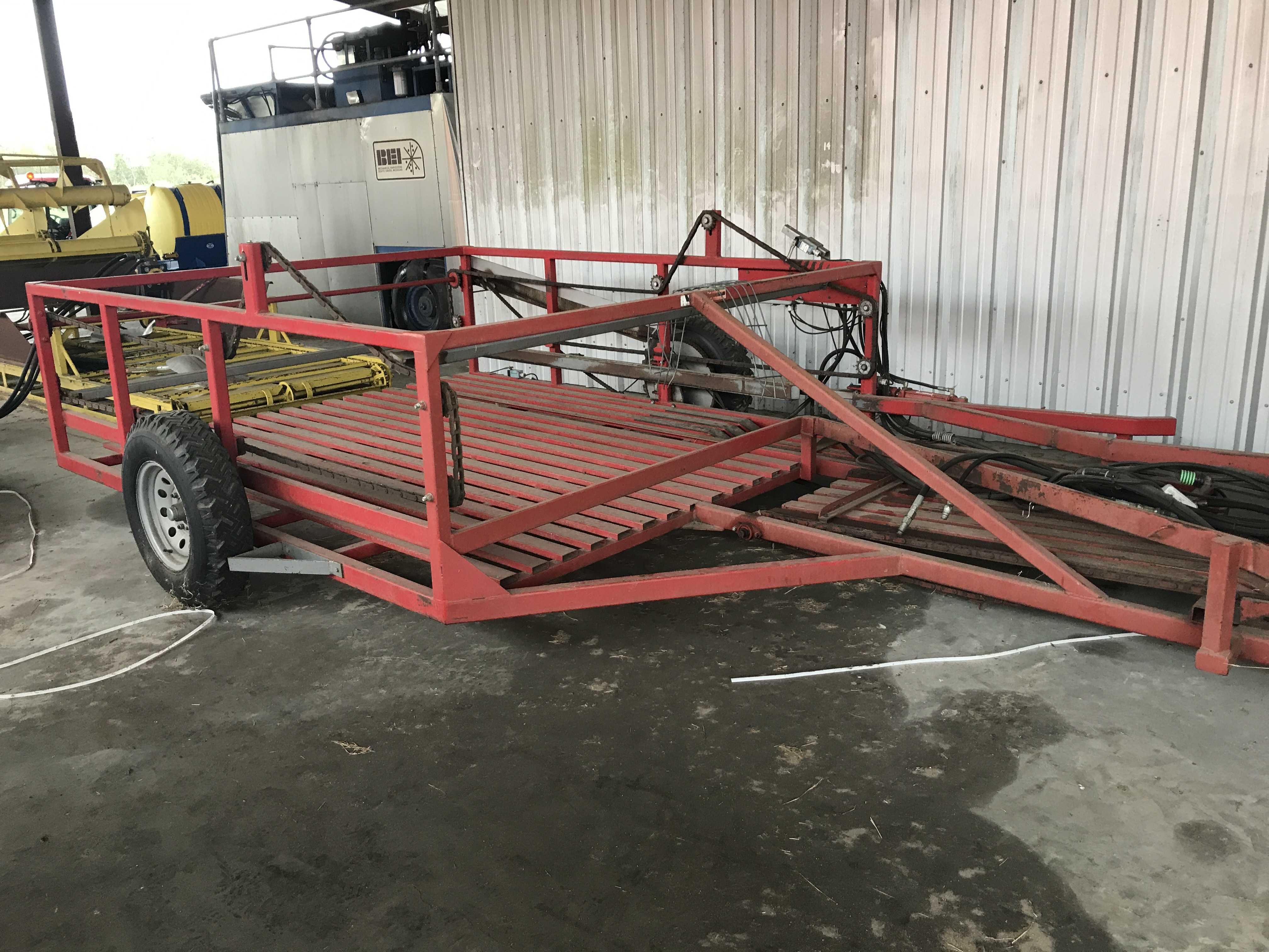 2012 Steffen Systems 1550 Bale Wagons and Trailer