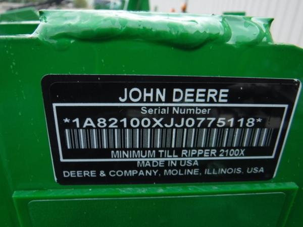 2018 John Deere 2100 In-Line Ripper