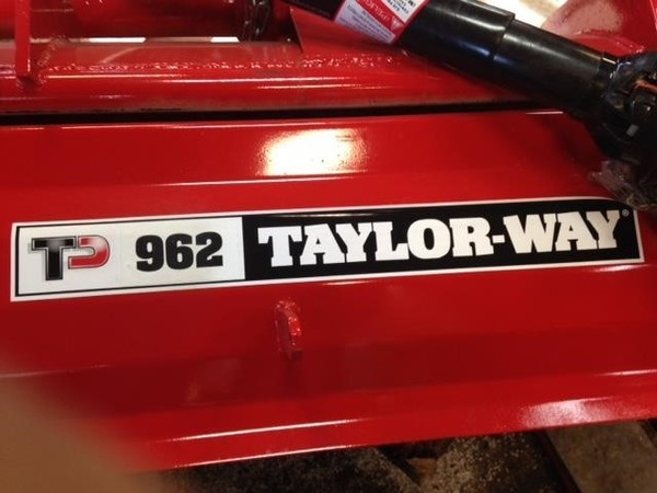 2018 Taylor Way 962GDT72 Mulchers / Cultipacker