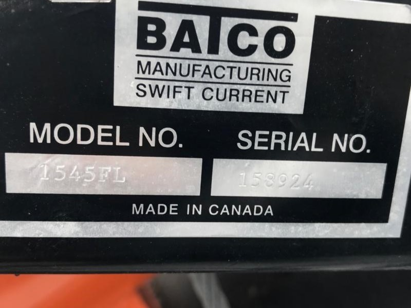 2012 Batco 1545FLTD Augers and Conveyor