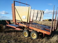 1973 New Holland 1032 Bale Wagons and Trailer