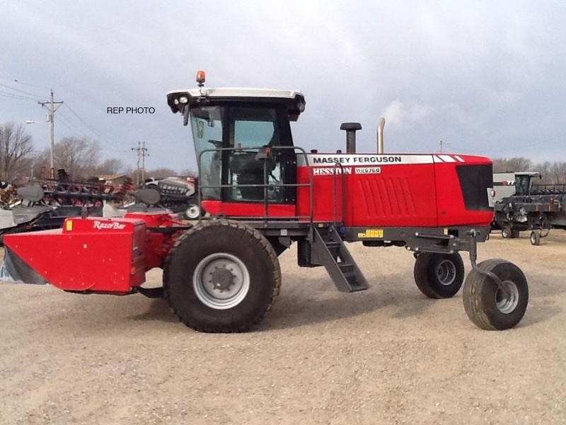 2014 Massey Ferguson WR9760 Self-Propelled Windrowers and Swather