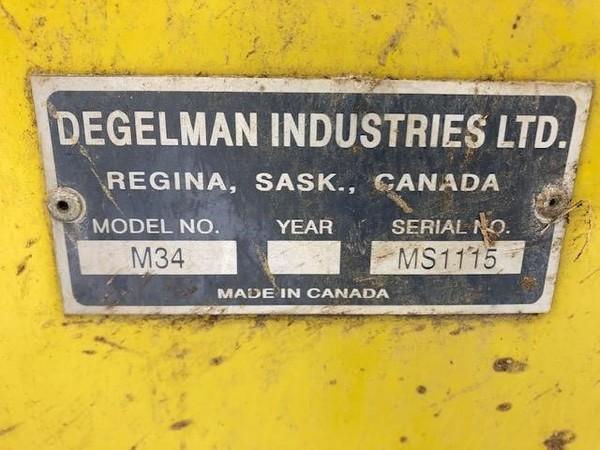 2016 Degelman M34 Manure Spreader