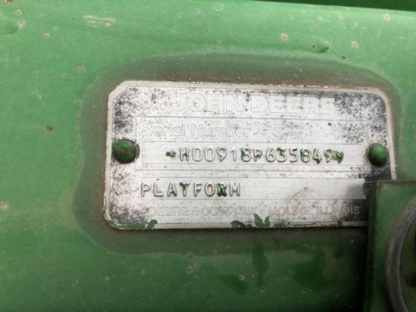 1990 John Deere 918 Platform
