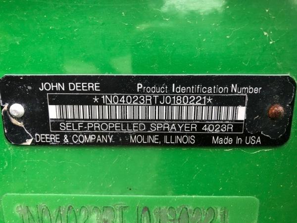 2018 John Deere R4023 Self-Propelled Sprayer