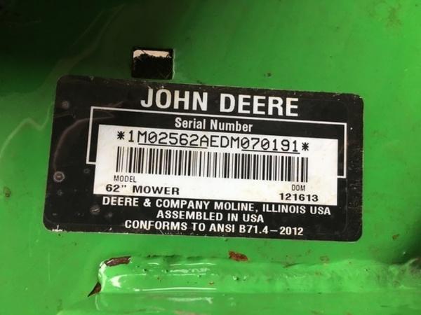 2013 John Deere 62 Lawn and Garden