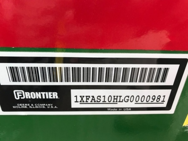 2017 Frontier AS10H-6 Blade