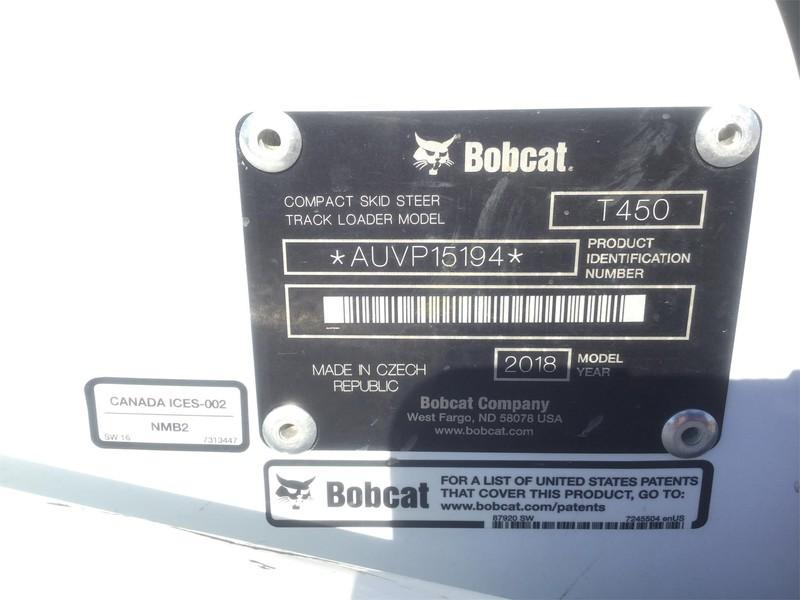 2018 Bobcat T450 Skid Steer