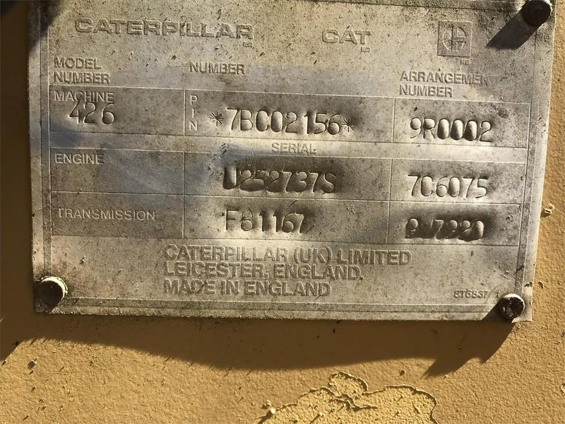 1988 Caterpillar 426 Backhoe