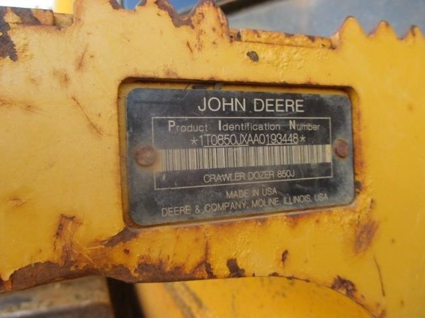 2012 Deere 850J LGP Dozer