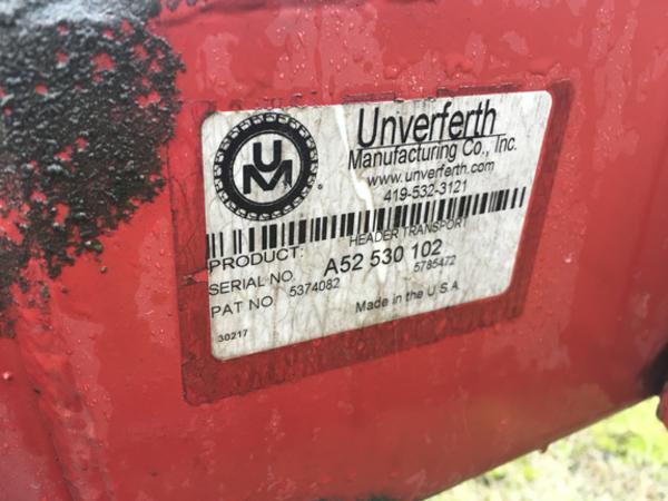 2011 Unverferth HT30 Header Trailer