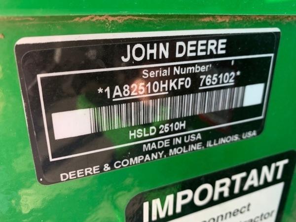 2016 John Deere 2510H Toolbar